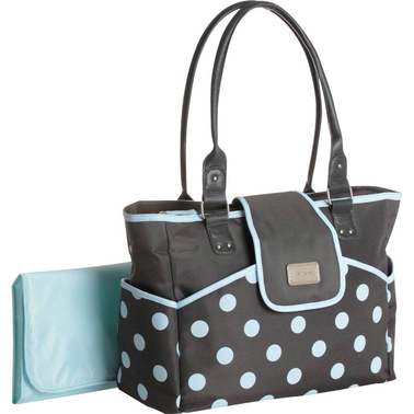carter 39 s dot print tote and diaper bag diaper bags accessories baby toys shop the exchange. Black Bedroom Furniture Sets. Home Design Ideas
