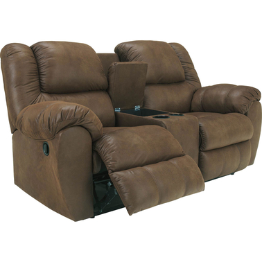 Ashley quarterback reclining console loveseat ashley furniture more shop the exchange Ashley couch and loveseat