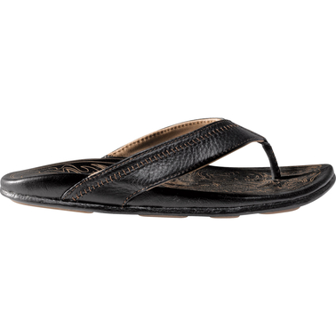 OluKai Men's Hiapo First Born Full Grain Whipstitch Leather Sandals