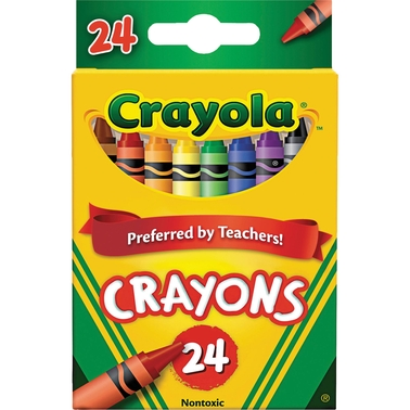 Crayola Classic Color Crayons Flip-Top Pack with Sharpener