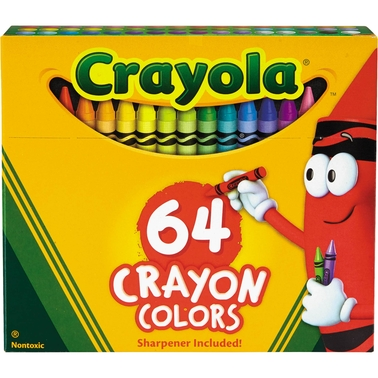 Crayola Classic Color Crayons in Flip-Top Pack with Sharpener 64 Colors