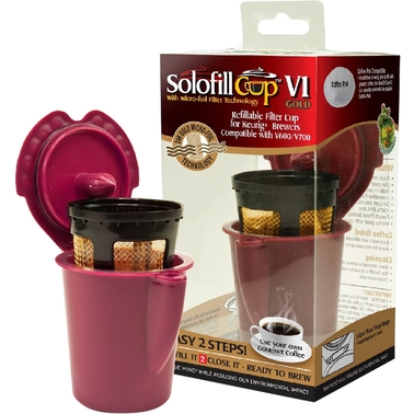 Solofill V1 Gold Refillable Filter Cup for Keurig Vue Brewing Systems