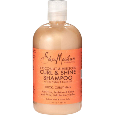Shea Moisture Coconut and Hibiscus Curl and Shine Shampoo 13 oz.