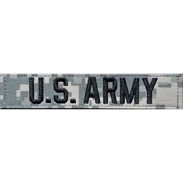 Embroidered Army Sew-On Branch Tape (ACU)