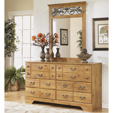 Ashley Signature Design Bittersweet 6 Drawer Dresser and Mirror