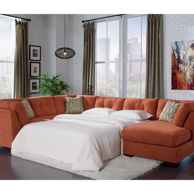 Benchcraft Delta City 3 Pc Sleeper Sectional With Raf
