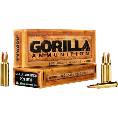 Gorilla Match .223 Rem 69 Gr. Sierra MatchKing Boat Tail Hollow Point, 20 Rounds