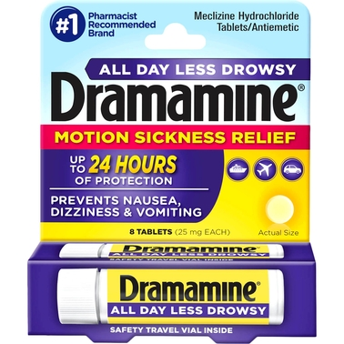 Dramamine All Day Less Drowsy Tablets 8 Pk.