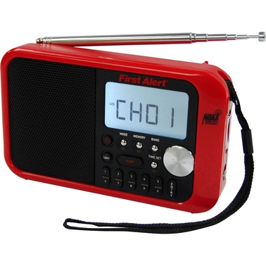 First Alert AM/FM Weather Band Clock Radio with Weather Alert