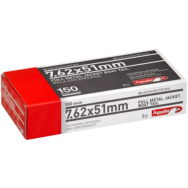Aguila 7.62x51 150 Grain FMJ, 20 Rounds