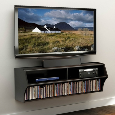 Prepac Altus Wall Mounted Audio and Video Console