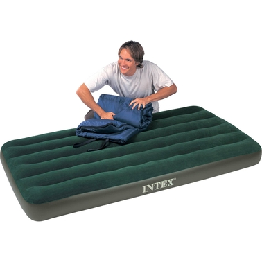 Intex Recreation Twin Prestige Downy Airbed with Combo Pump