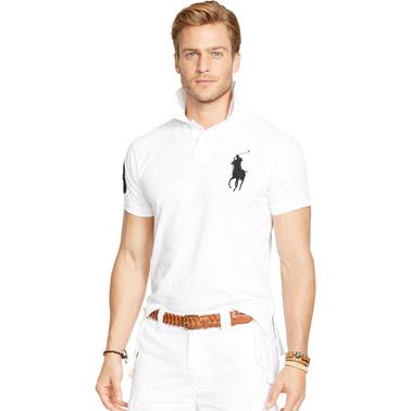 a317a1f62d52 Polo Ralph Lauren Custom Fit Big Pony Mesh Polo Shirt   Shirts ...