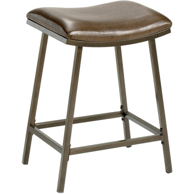 Hillsdale Saddle Counter/Bar Stool with Nested Legs
