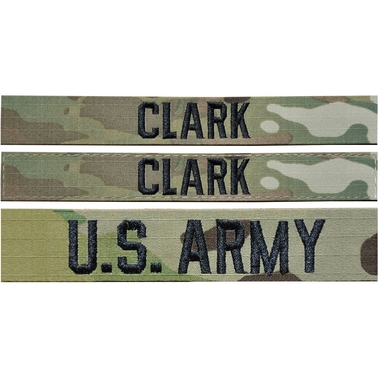 Embroidered Army OCP Nametape Kit Sew-On (Uniform Builder Item Only)