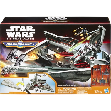 Star Wars The Force Awakens MicroMachines First Order Star Destroyer Playset