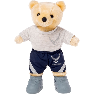 Bear Forces of America 11 in. Plush Bear in the Air Force PT Uniform