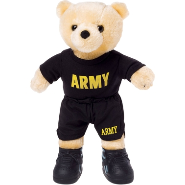 Bear Forces of America 11 in. Plush Bear in the Army PT Uniform