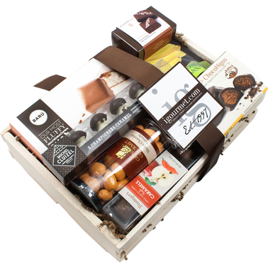 The Gourmet Market Chocolate Covered Goodies Gift Basket Crate