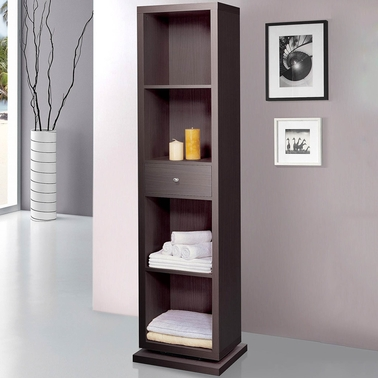 Artiva Bella Home Deluxe Cabinet/Shelving Unit with Swivel to Full Length Mirror