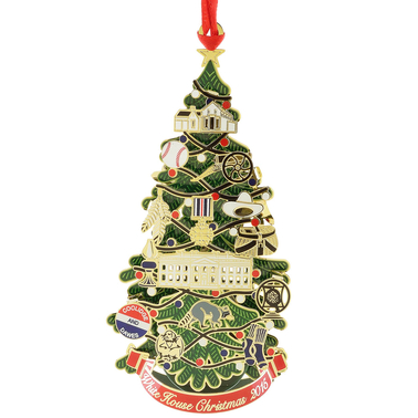 Chemart 2015 Calvin Coolidge Official White House Christmas Collectible Ornament