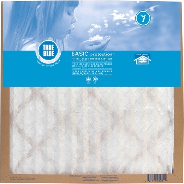 Protect Plus True Blue Basic Merv 7 Pleated  90 Day Air Filter, 16 x 20 x 1