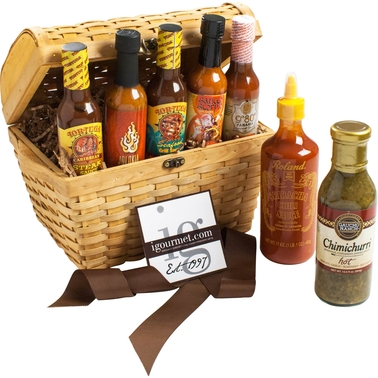 The Gourmet Market Ultimate Hot Sauce Lovers Gift Chest