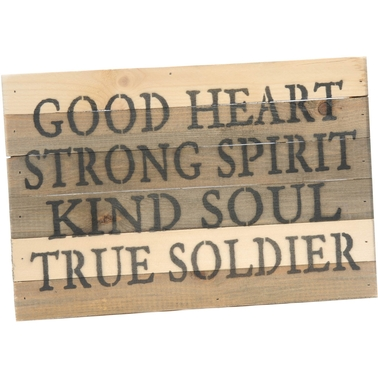 Uniformed True Soldier 12 x 8 in. Reclaimed Wood Sign