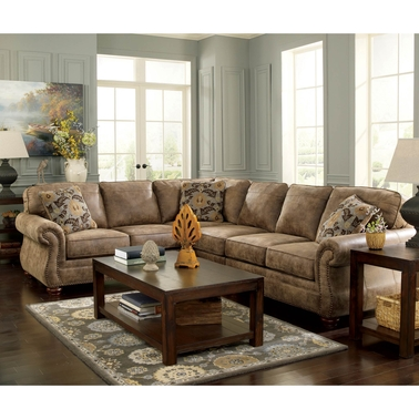 Signature design by ashley larkinhurst 3 pc sectional raf for American furniture warehouse mattress return policy