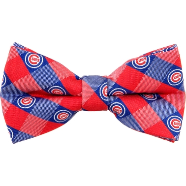 Eagles Wings MLB Chicago Cubs Checkered Bow Tie
