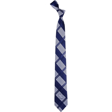 Eagles Wings MLB New York Yankees Woven Skinny Plaid Tie