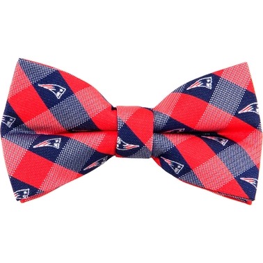 Eagles Wings NFL New England Patriots Checked Bow Tie