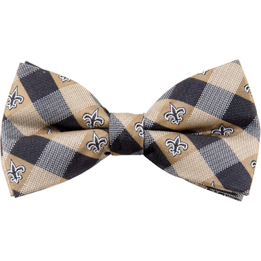 Eagles Wings NFL New Orleans Saints Checked Bow Tie