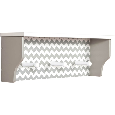 Trend Lab Dove Gray Shelf With Pegs