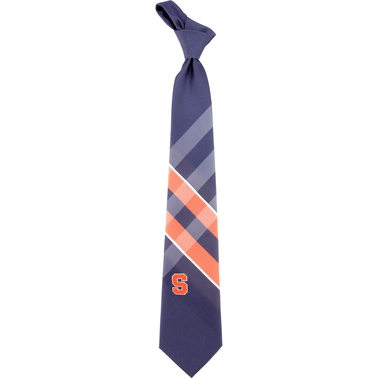 Eagles Wings NCAA Syracuse Orange Woven Grid Tie