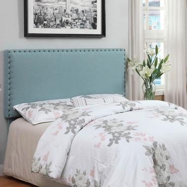 Furniture Of America Nailhead Trim Padded Headboard Beds Home