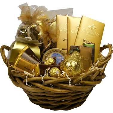 Naper Nuts & Sweets Chocolate Lover's Pot of Gold Gift Basket