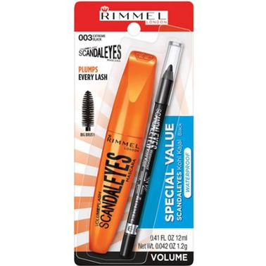 Rimmel ScandalEyes Mascara/Waterproof Kohl Kajal Eye Liner, 2 Pc.