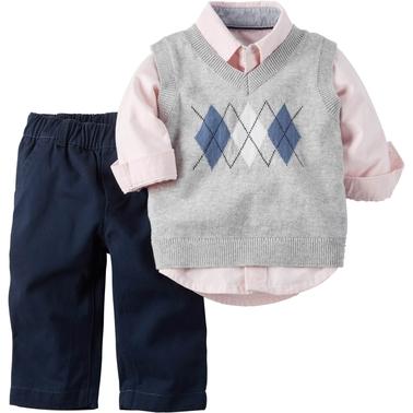 ab73b4cc4 Carter's Infant Boys Easter Shirt Vest And Pants 3 Pc. Set   Baby ...