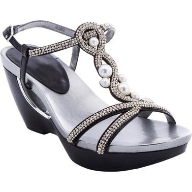 Andrew Geller Allisandra Wedge Sandals With Side Buckle