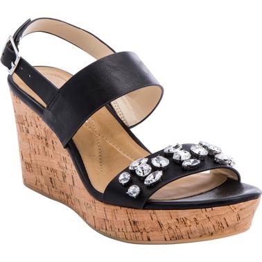 Andrew Geller Destin Double Strap Wedge Sandals Wedge