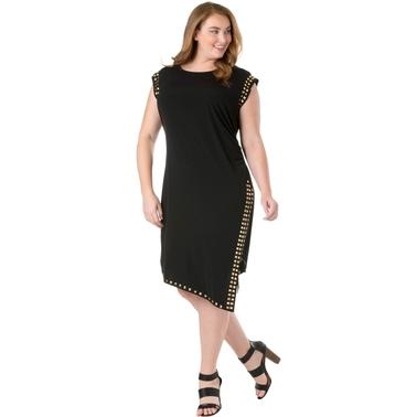 Michael Kors Plus Size Studded Uneven Hem Dress Dresses Apparel