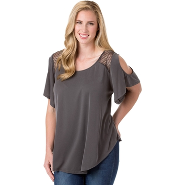 ed583b6be480f6 Jessica Simpson Plus Size Carly Cold Shoulder Top