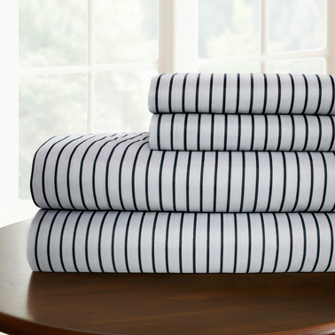 Simply Perfect Microfiber Pinstripe Sheet 3 Pc. Set