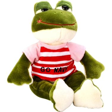 Bear Forces of America 14 in. Plush Frog, Go Navy
