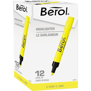 Berol 4009 Chisel Tip Highlighter, 12 Pk.