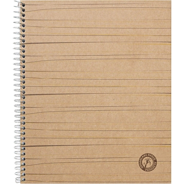 Universal One Sugarcane Based College Rule 11 x 8 1/2 in. White Notebook