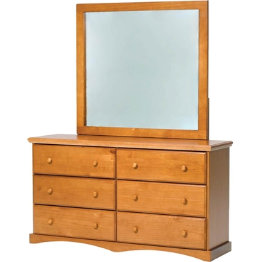 Chelsea home 6 drawer dresser and mirror dressers home for 12 inch depth dresser