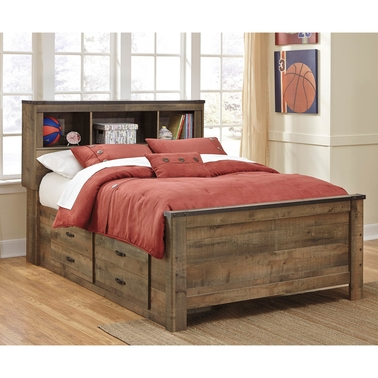 Ashley Trinell Bedroom Collection Full Bookcase Bed with Storage