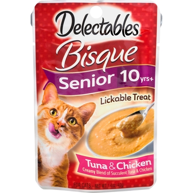 Hartz Delectables Senior 10+ Tuna & Chicken Lickable Treat 1.4 oz.